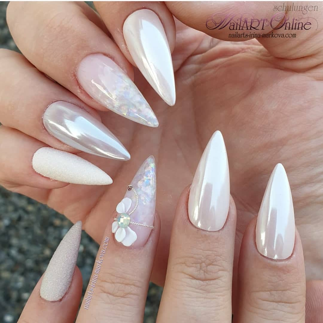 added an opal touch to this pretty set! .....nailjunkie