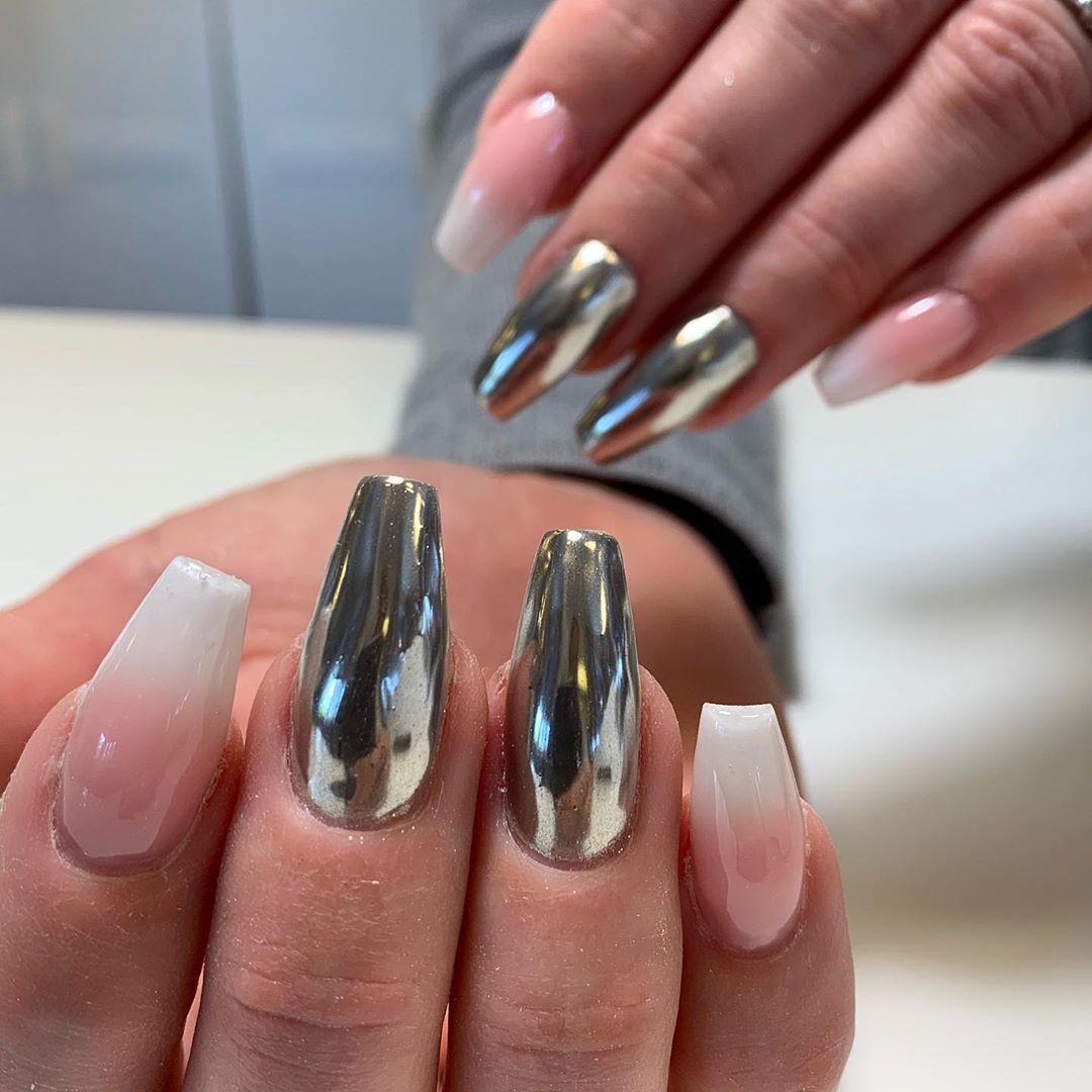 Faded french  chrome   naglarbynattis