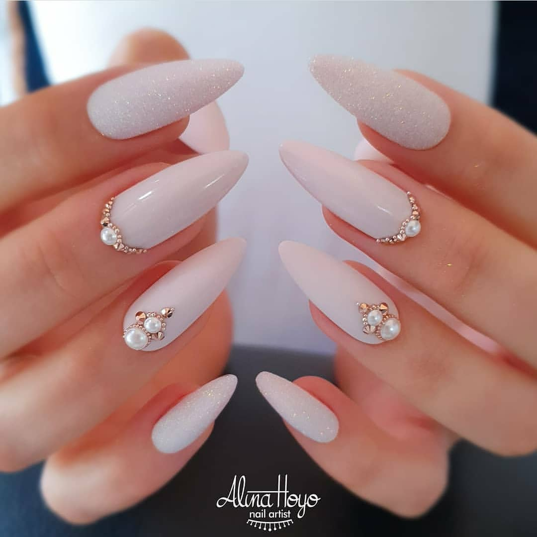Gold and pearls  by .....nailartaddict