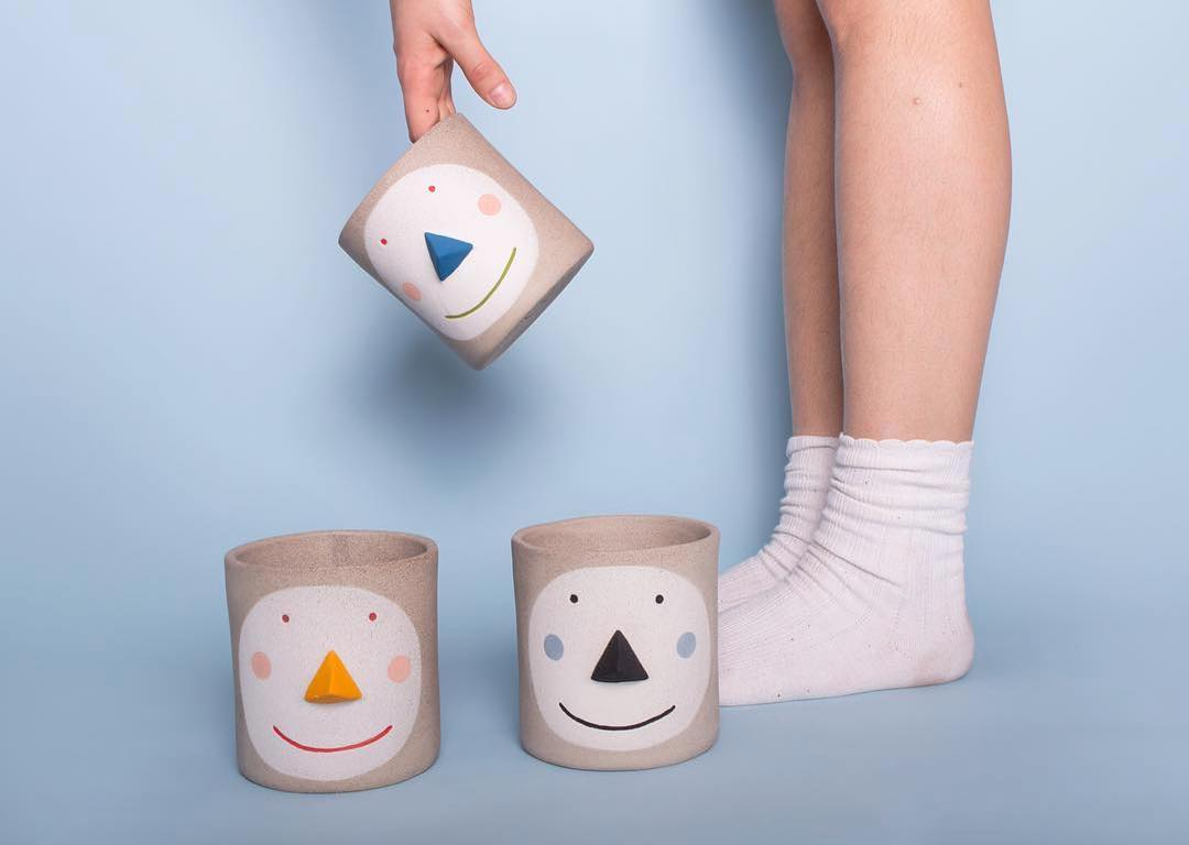 We still have a few of the cute Pat flowerpots by Brooklyn based A Christmas present that  guaranteed will put a smile on the lucky receivers face Pat is a post-gender name. contemporaryceramics