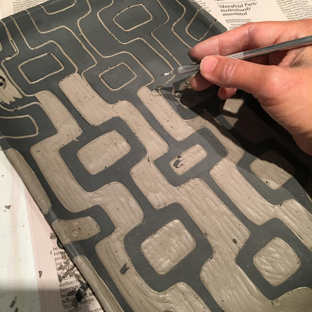 Working on bringing in the mod designs. Urban Craft Uprising is in 3 weeksmadly working! sgraffito