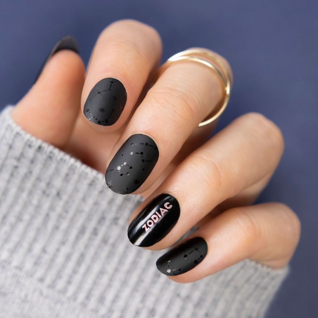 Me: I don't believe in the horoscope Horoscope: Your nails are always perfect Me: NEW PLATEPlates - Zodiac 25Polishes - Black Knight  Ladygold Pink  fashiongirls