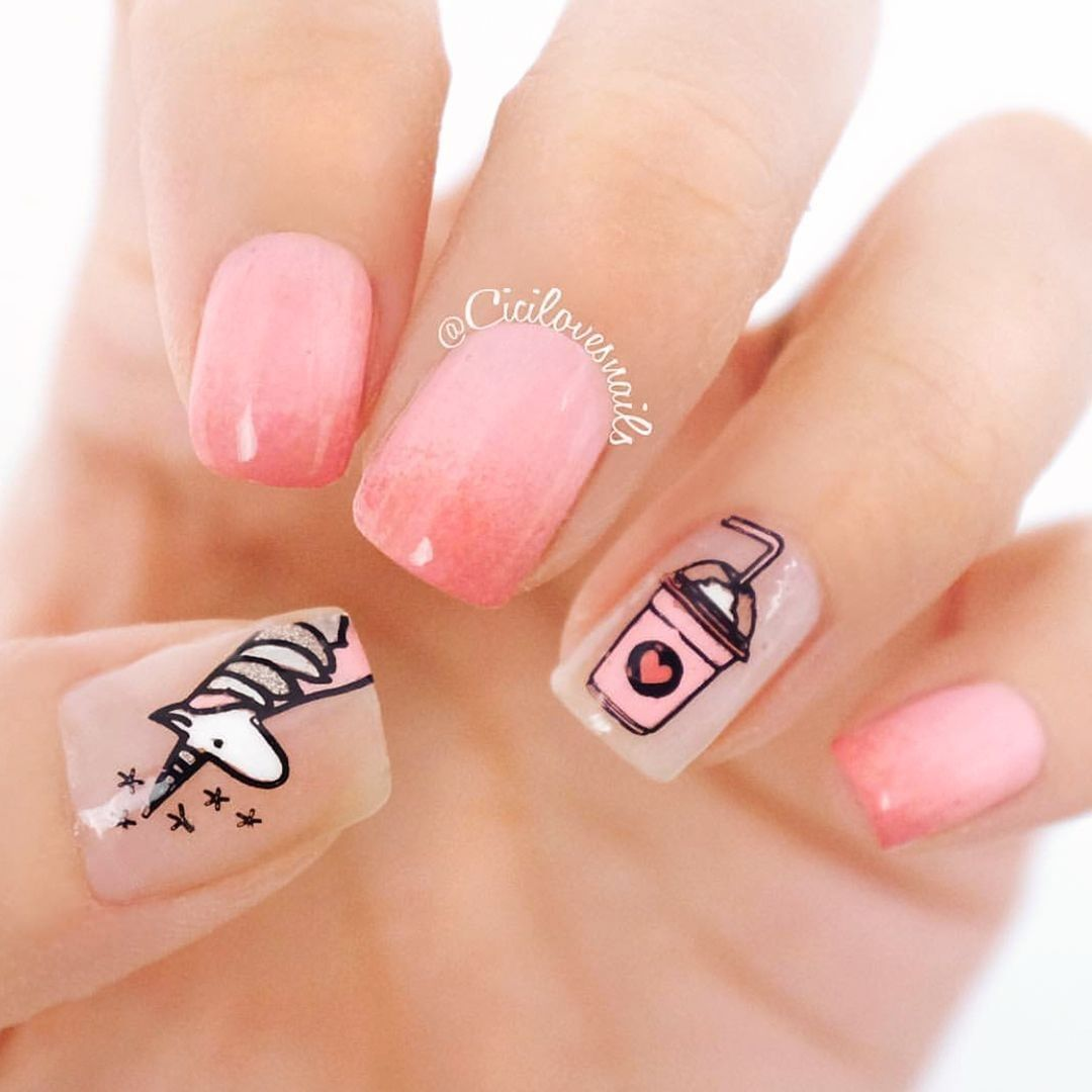 It's getting hot lately, anyone else fancy a nice cold drink Plates - Tumblr Girl 01  nails_pages