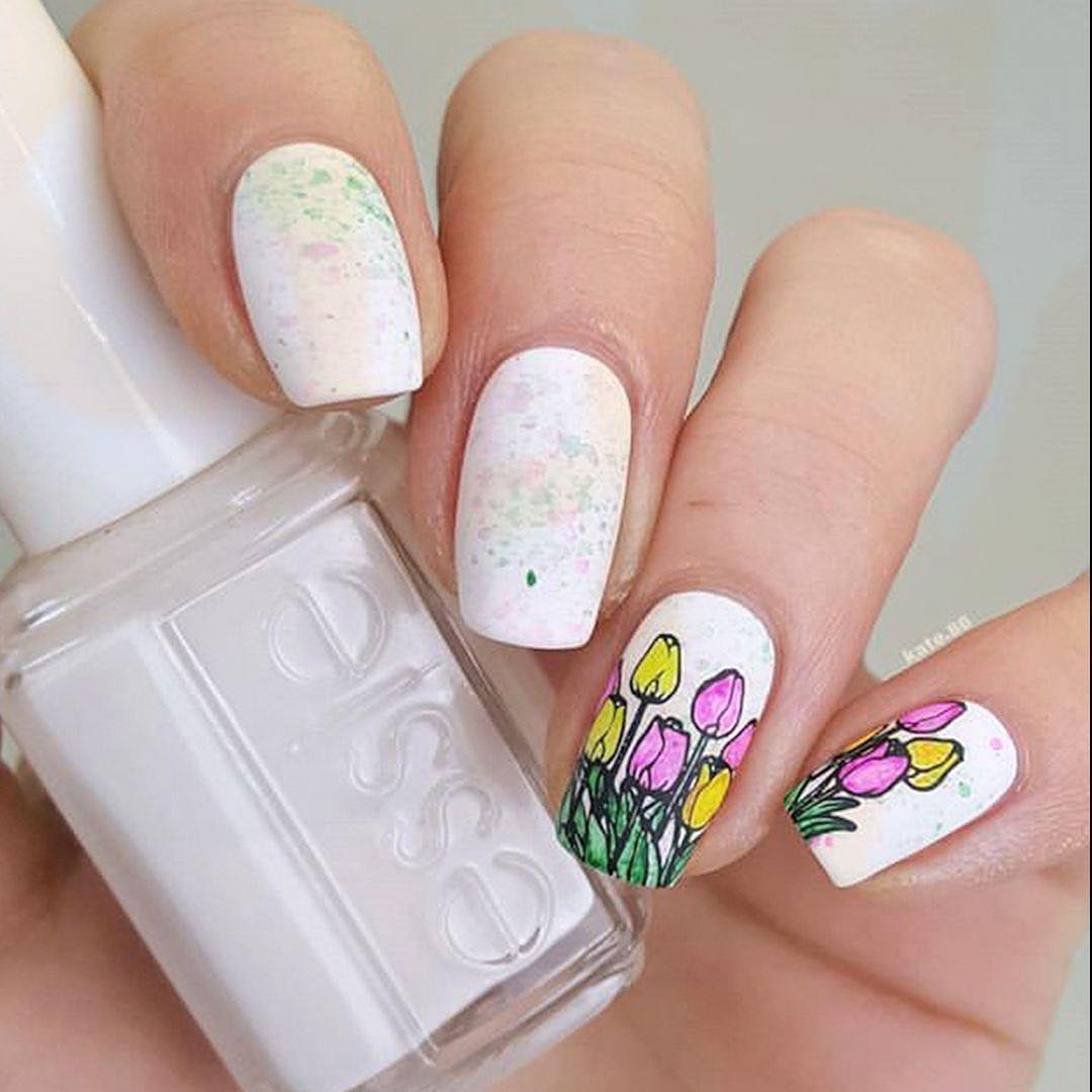 Easter break is over but here are some of the amazing manis done by some of you! They are great and full of lovely colours and combinations! ..   eastermood