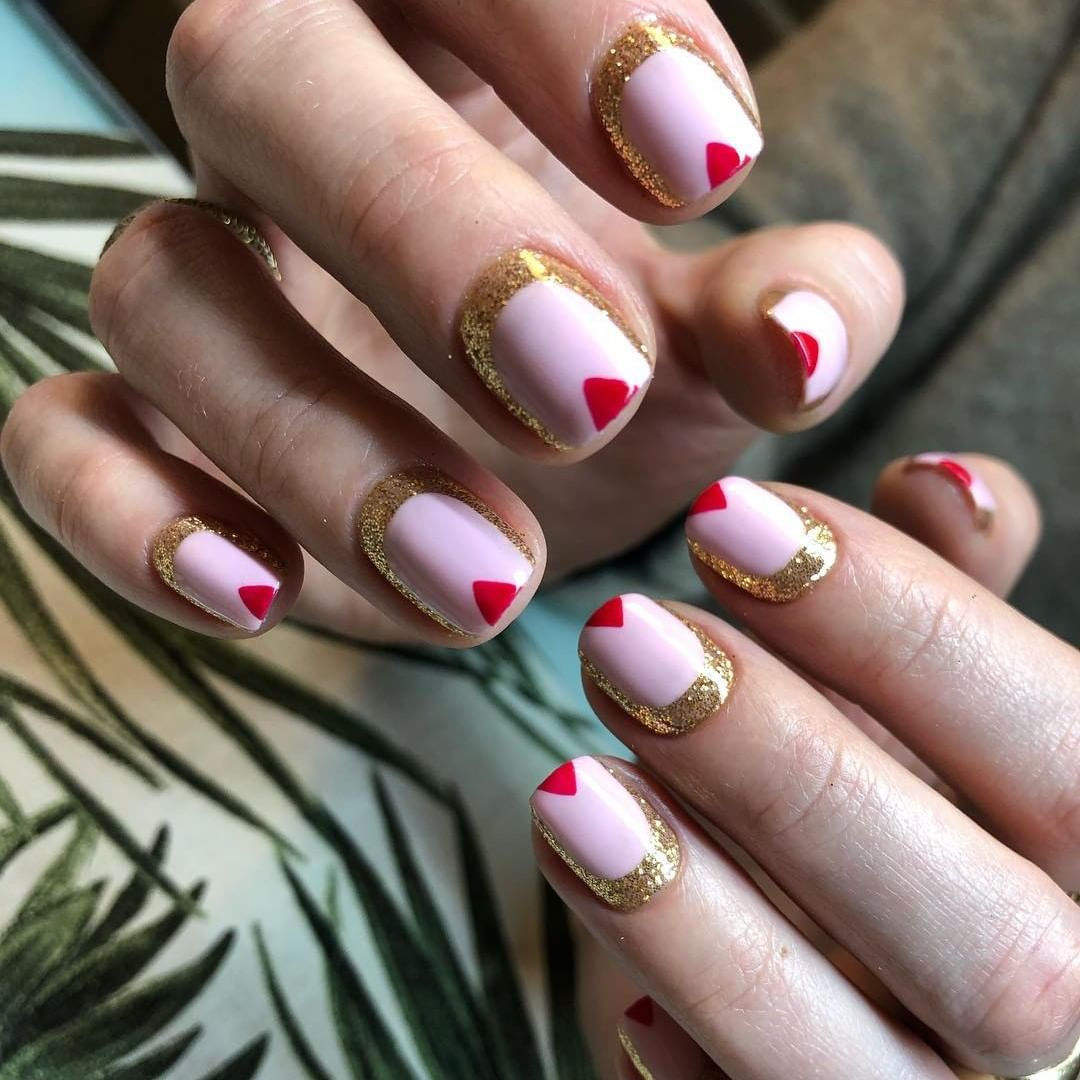 Were trying to name this manicure but cant land on a name. What ideas do you have?  Shades: Winter Glow and Mambo Beat featuring glitter