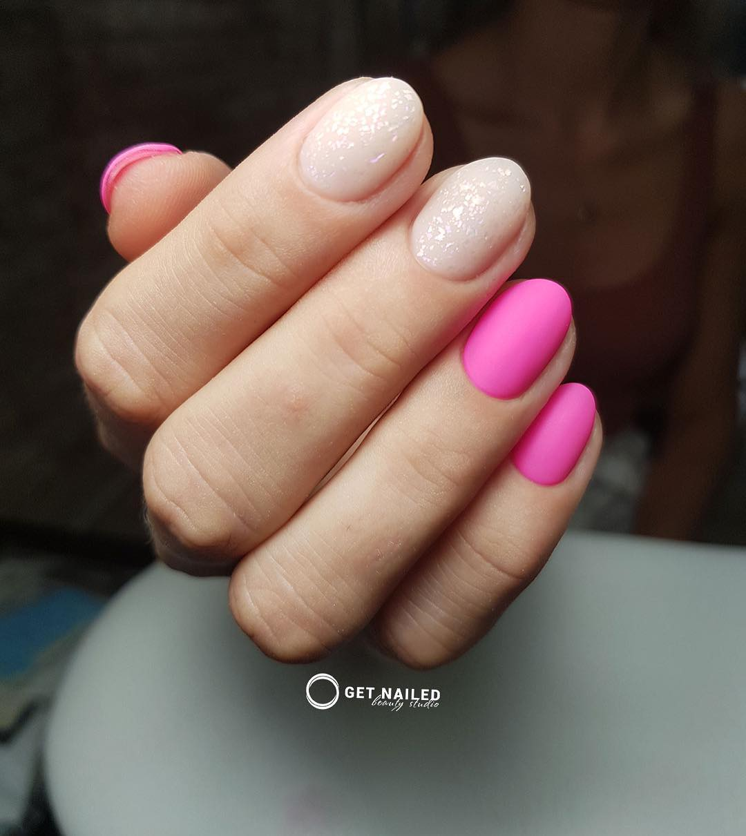Pink dreams are made of this Nails done by MargaritaYou can book your appointment on getnailed.co, through DM, WhatsApp +34 680 576 151 or simply by leaving a comment ..luxiogel