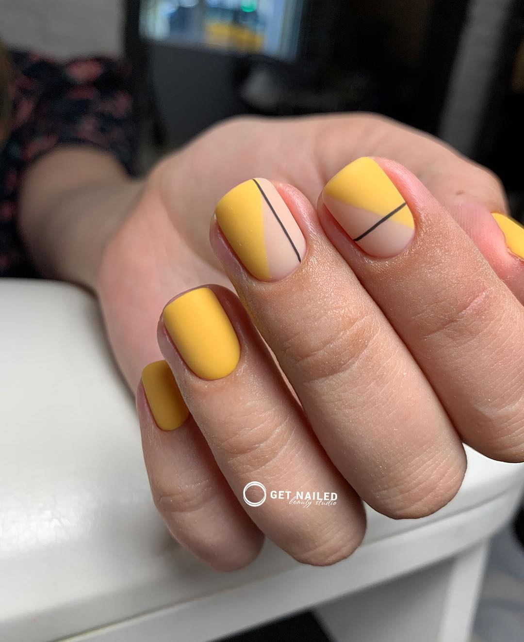 Trendy  fun Nails done by KarinaYou can book your appointment on getnailed.co, through DM, WhatsApp +34 680 576 151 or simply by leaving a comment ..luxiogel