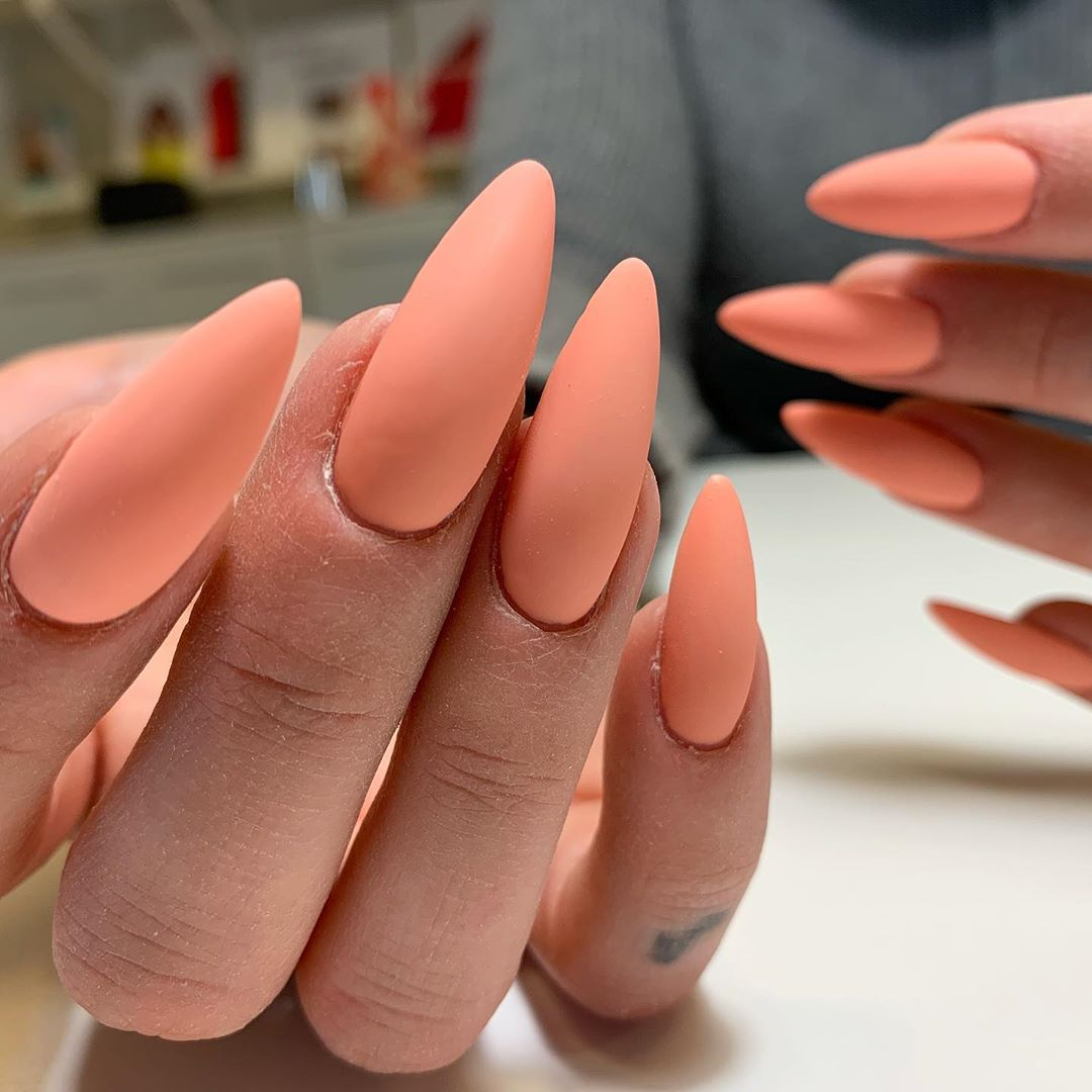 Peach milk 055 i matt  naglarbynattis