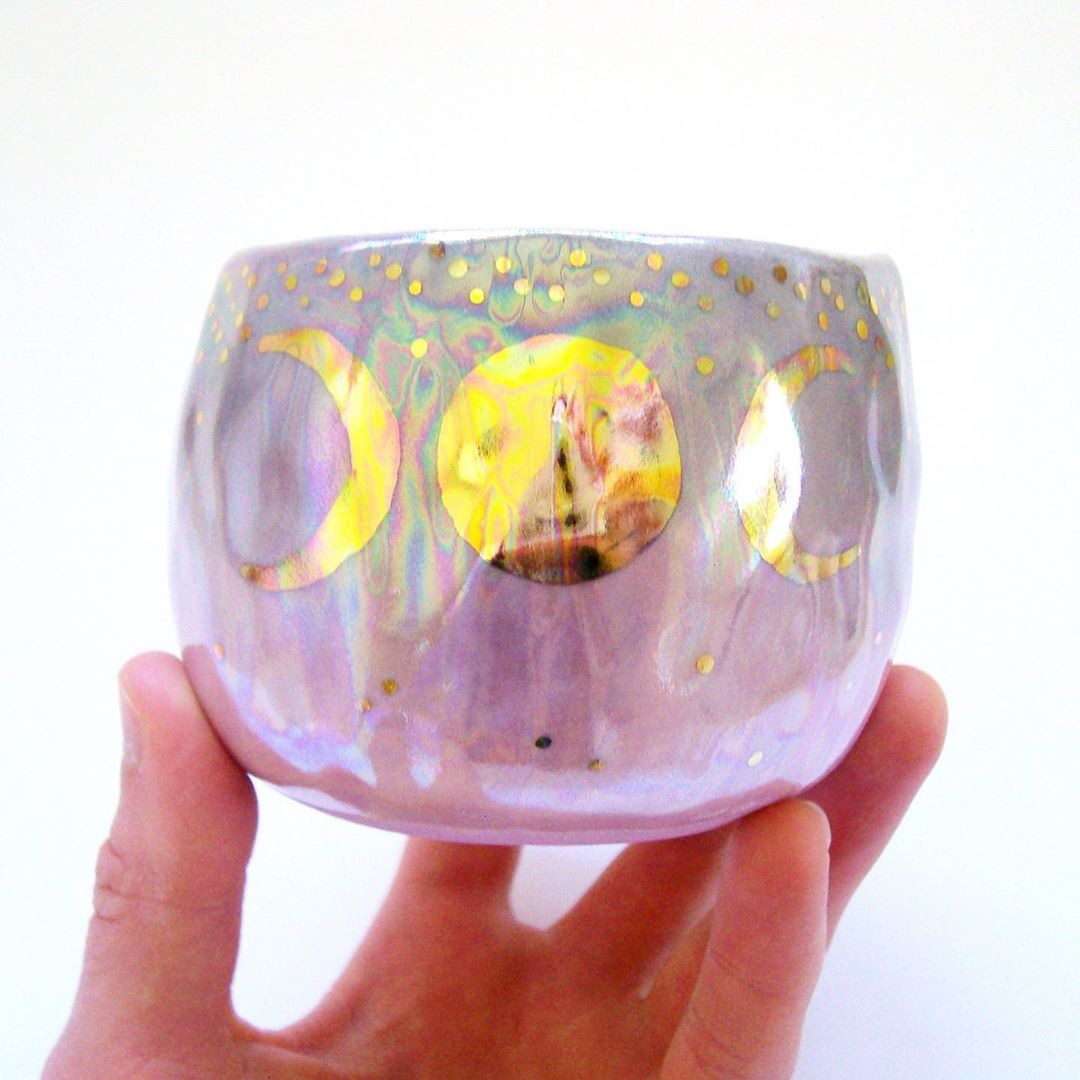 ***GIVEAWAY CLOSED***.the winner was ..Giveaway time!!!..I am giving away this opalescent aura triple goddess moon cup! ..How to enter:1- Like this photo 2- Make sure you are following me3- Tag at least two friends ..I will randomly pick a winner who has followed all 3 steps and announce it in a few days ..I will run this giveaway until midnight (12:00am MDT) on Sunday, June 16th ..This cup holds about 6 fluid ounces (180 ml), and it is not microwave or dishwasher safe because it is decorated with real 22k gold and mother of pearl luster..International participants will be asked to pay for a shipping fee if they are chosen .....This giveaway is in no way sponsored by or affiliated with Instagram....And the winner is...... _maralee_!