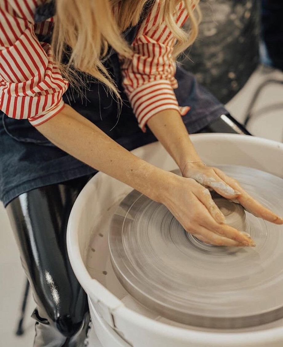 From yesterdays meet up with -  finding her inner potter  We just listed new dates for our ceramic courses - so go check them out and get your spot now.  learnacraft