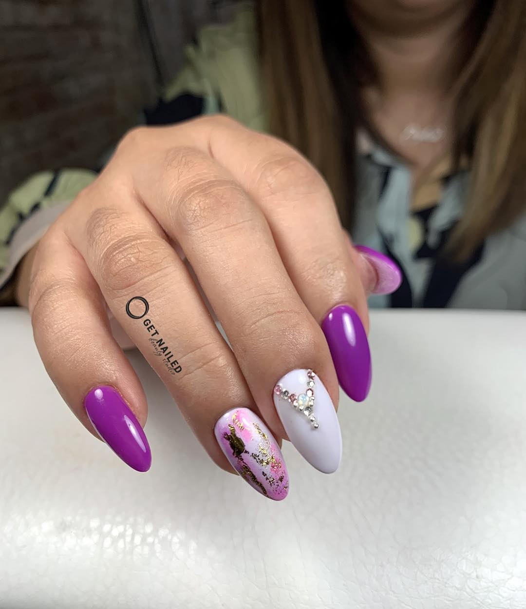 Purple magic Nails done by MargaritaYou can book your appointment on getnailed.co, through DM, WhatsApp +34 680 576 151 or simply by leaving a comment ..luxiogel