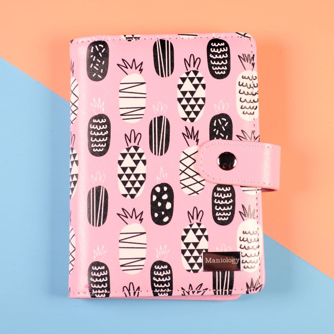 We totally get it! Its a passion. This month's includes a travel-sized Pineapple Stamping Plate Organizer. pink