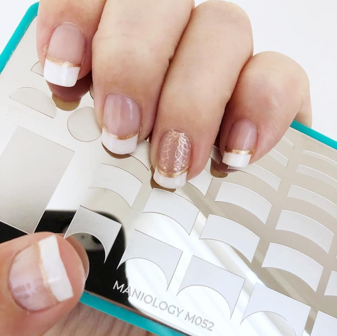 A manicure like this is simply beautiful.  is using our Pardon my French plate (m052).  Tap the pic for more info. nailartwow