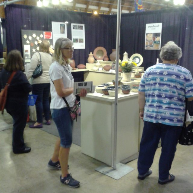 First night of clay fest with lots of pots going out the door! artshow