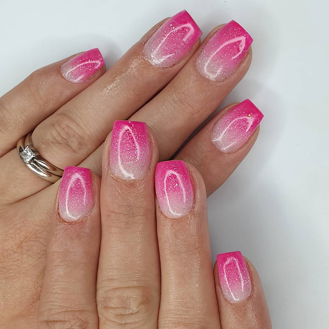 Summer ombres Using slush fairy, magenta  crystal glassFinished with melonmania cuticle oil shabaawards