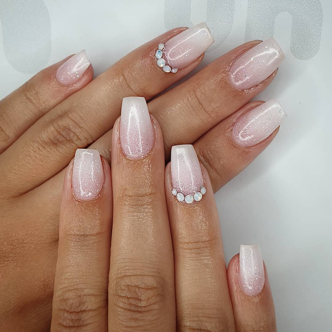 Natural nail envy! Using slush fairy, milky pink  negligee  Crystal's from Finished with melonmania cuticle oil shabaawards