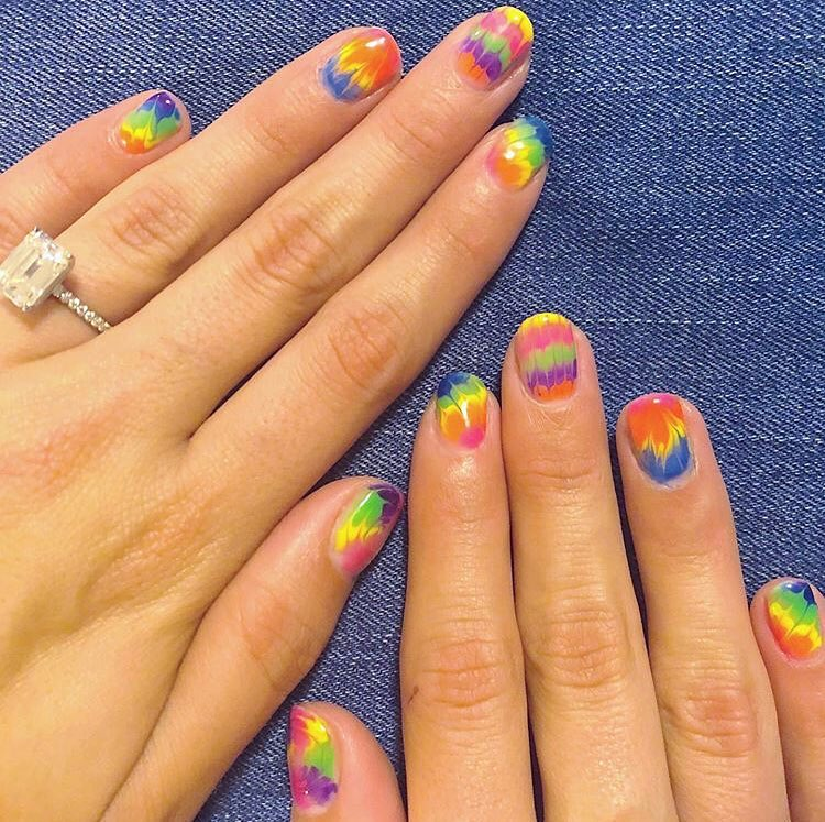 More! Tie! Dye! Always!  nailitdaily