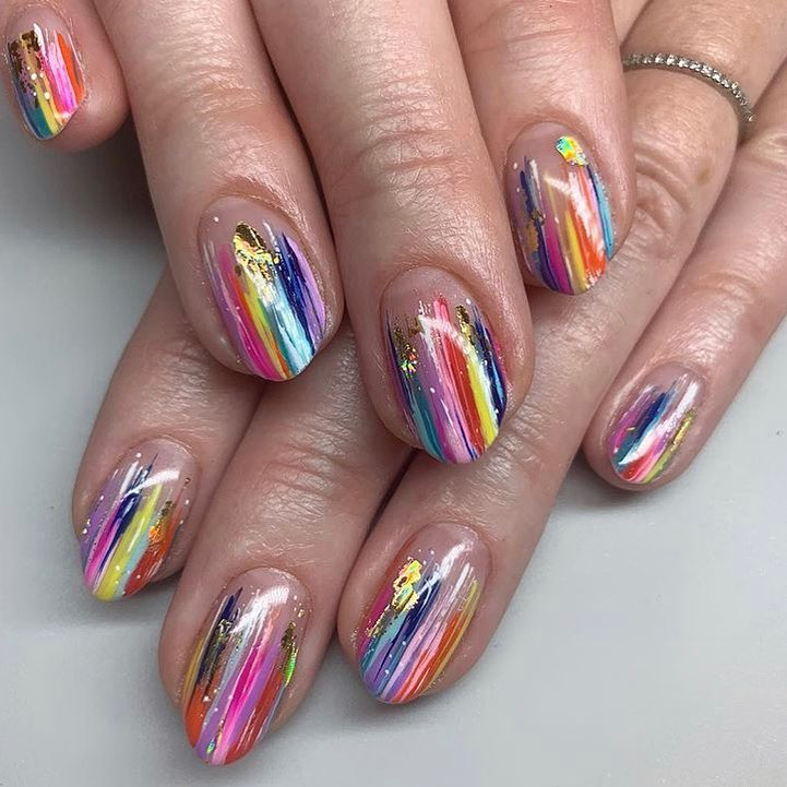 Rainbow stripes perfect for a fun weekend  nailitdaily