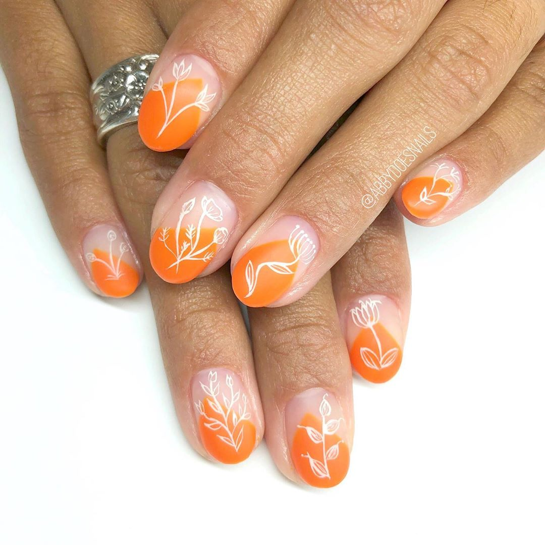 inspired florals  utahcountynails