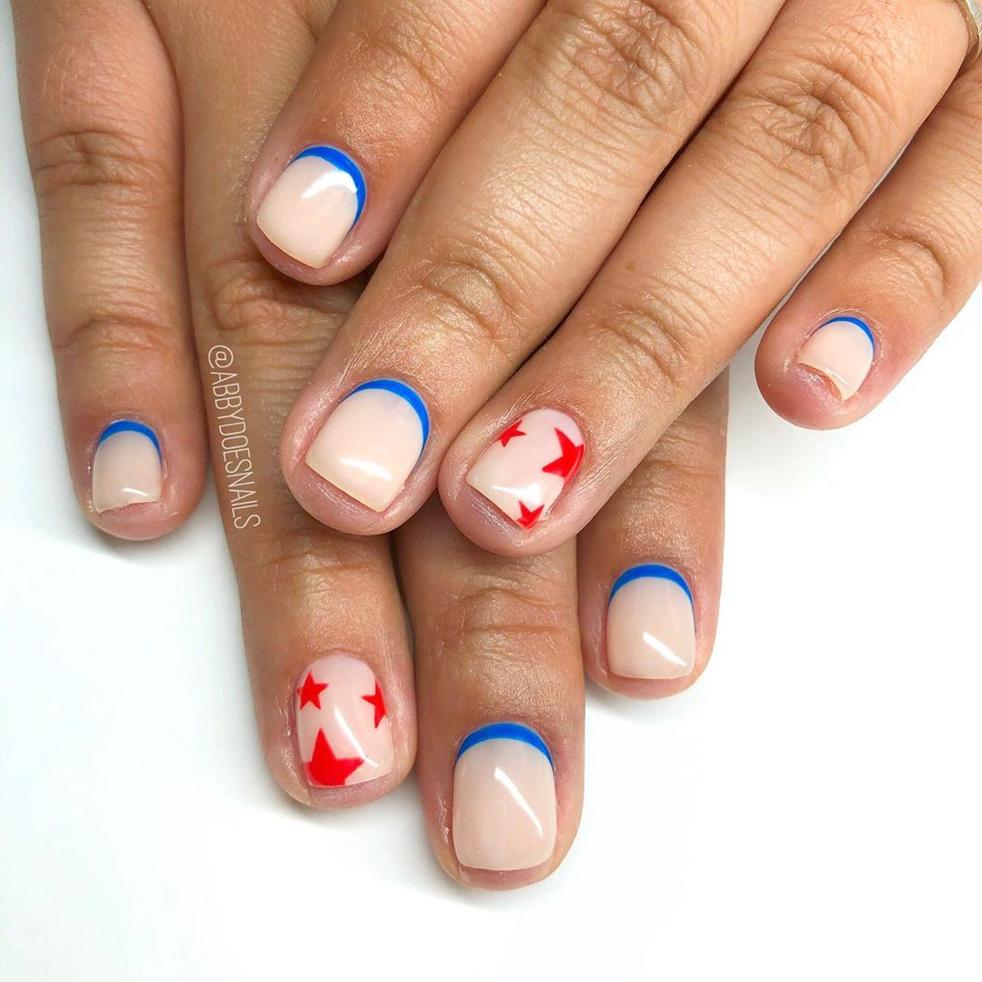 More simple 4th nails  also, can we talk about the win yesterday?! SUCH a good game! Did you watch? utahcountynails