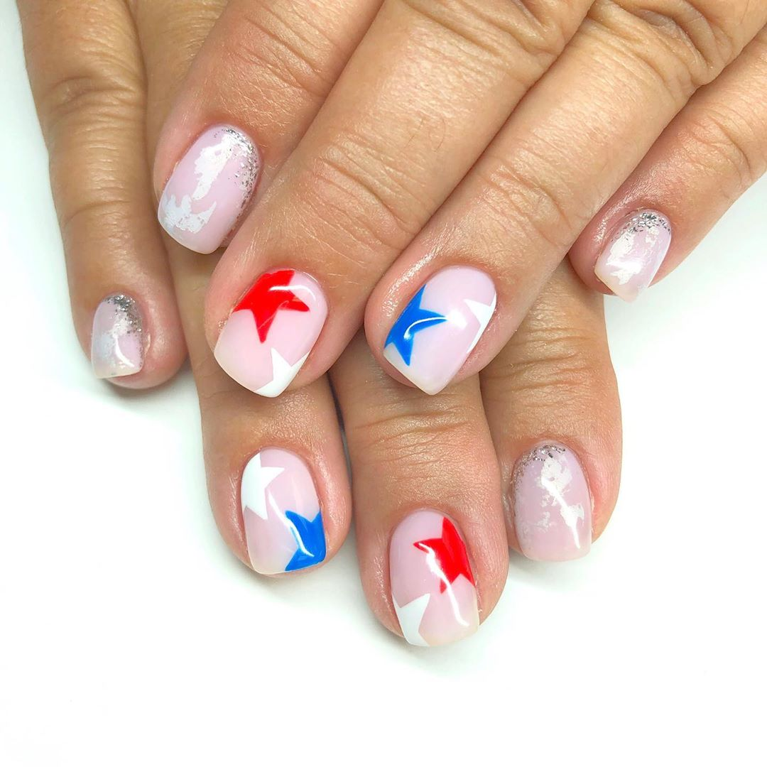 Last 4th nails! Hope you all had an enjoyable and safe day  aint it great to be free? utahcountynails