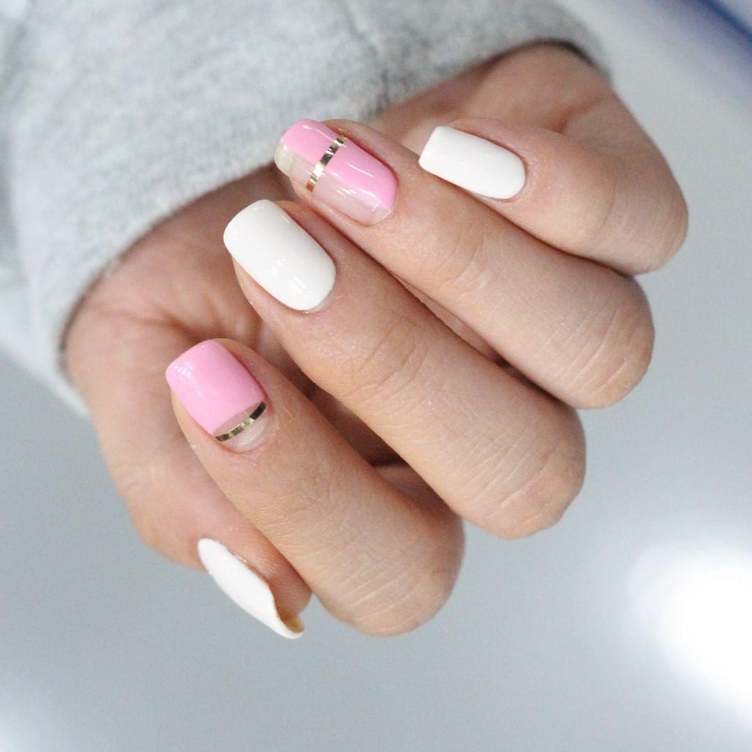 Pink half and half..trend2019