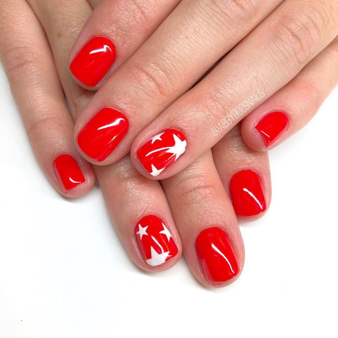 Super simple 4th nails  utahcountynails