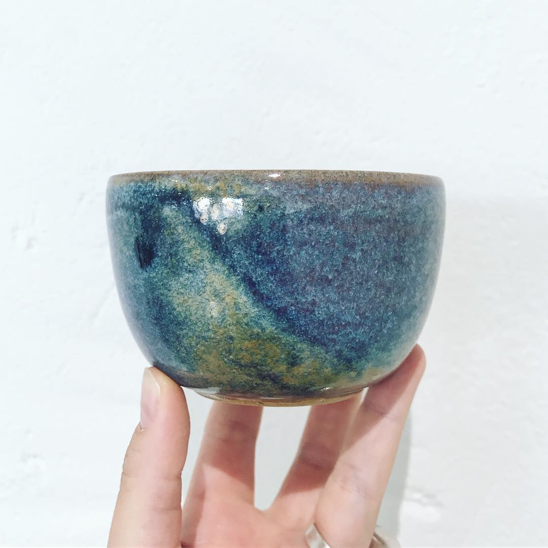 New beautiful bowls by French artist Dominique Thomas! Love the details in the glaze. newin