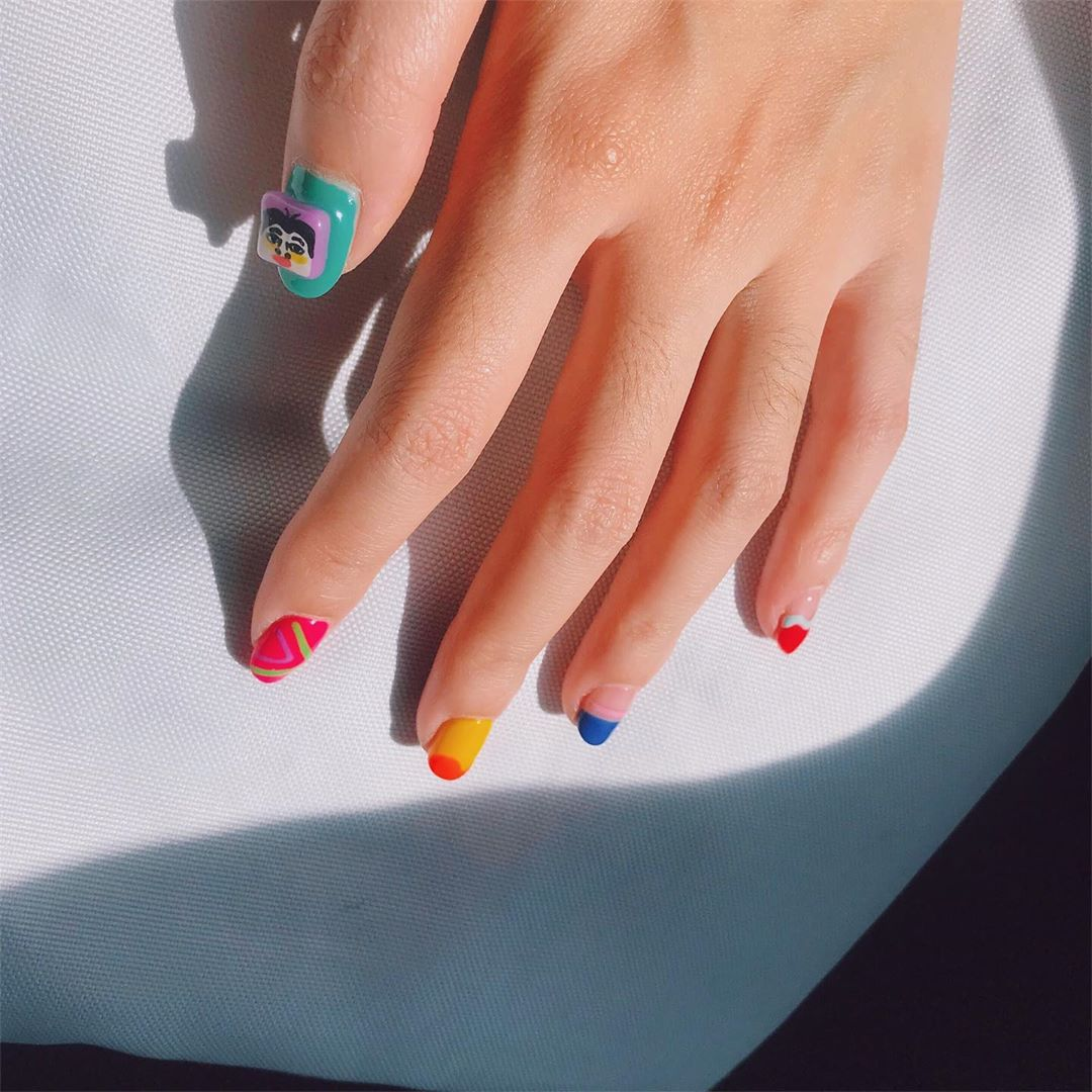 Sundress. ...Welcome All The Nail Art LoverReservations please call: 096-669-2996 or Line: benbenz.bbNailart  Manicure  Pedicure  Spa services glitternails