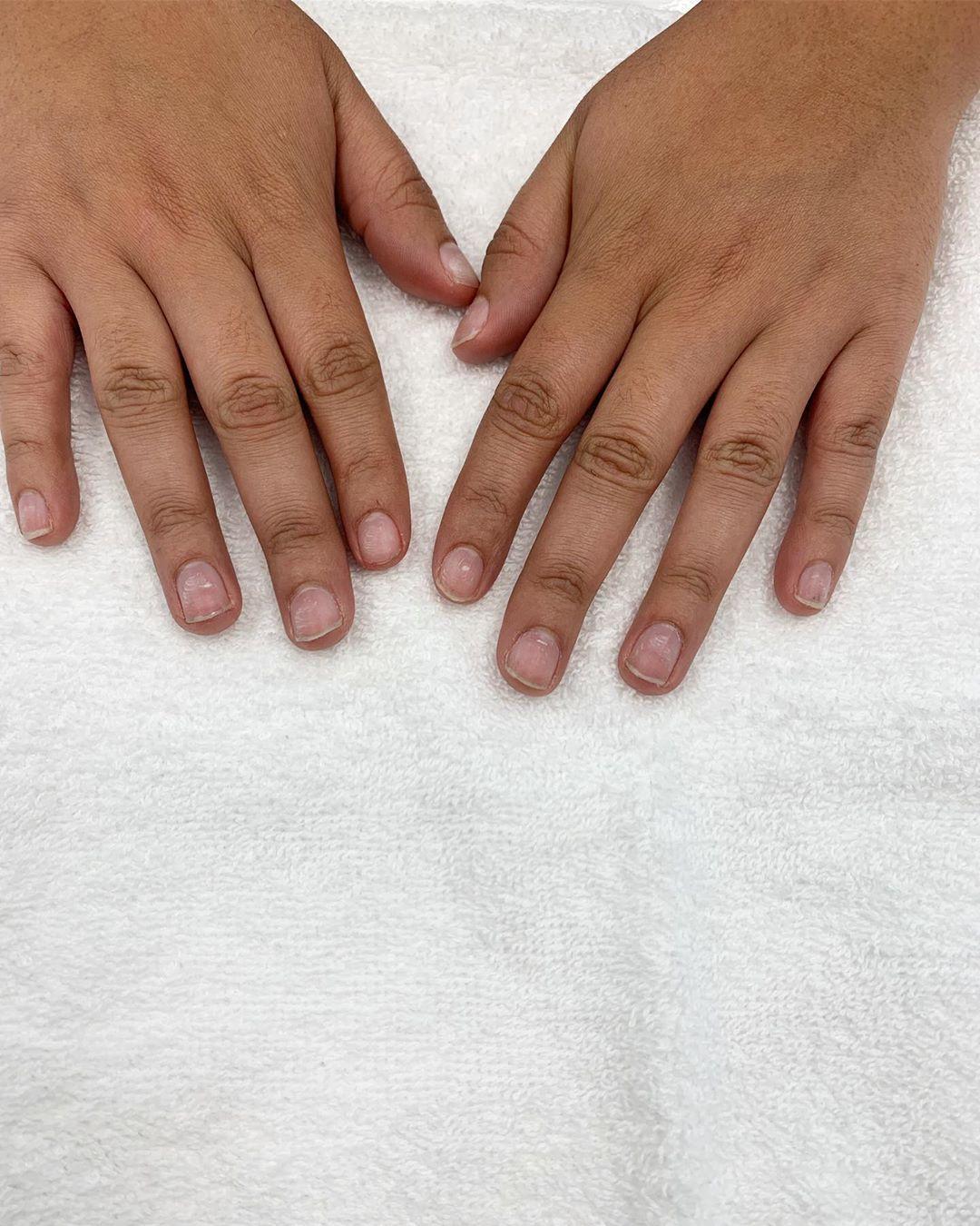 We offer hard gel overlays!  nailsnailsnails