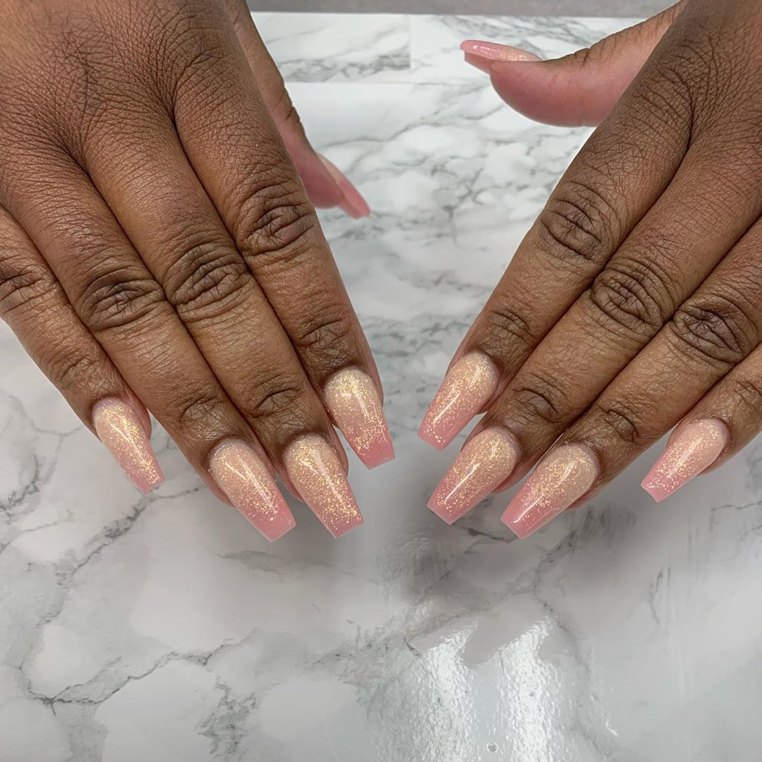 Ombr set using hidden pleasure and  bridal shower  nailsnailsnails